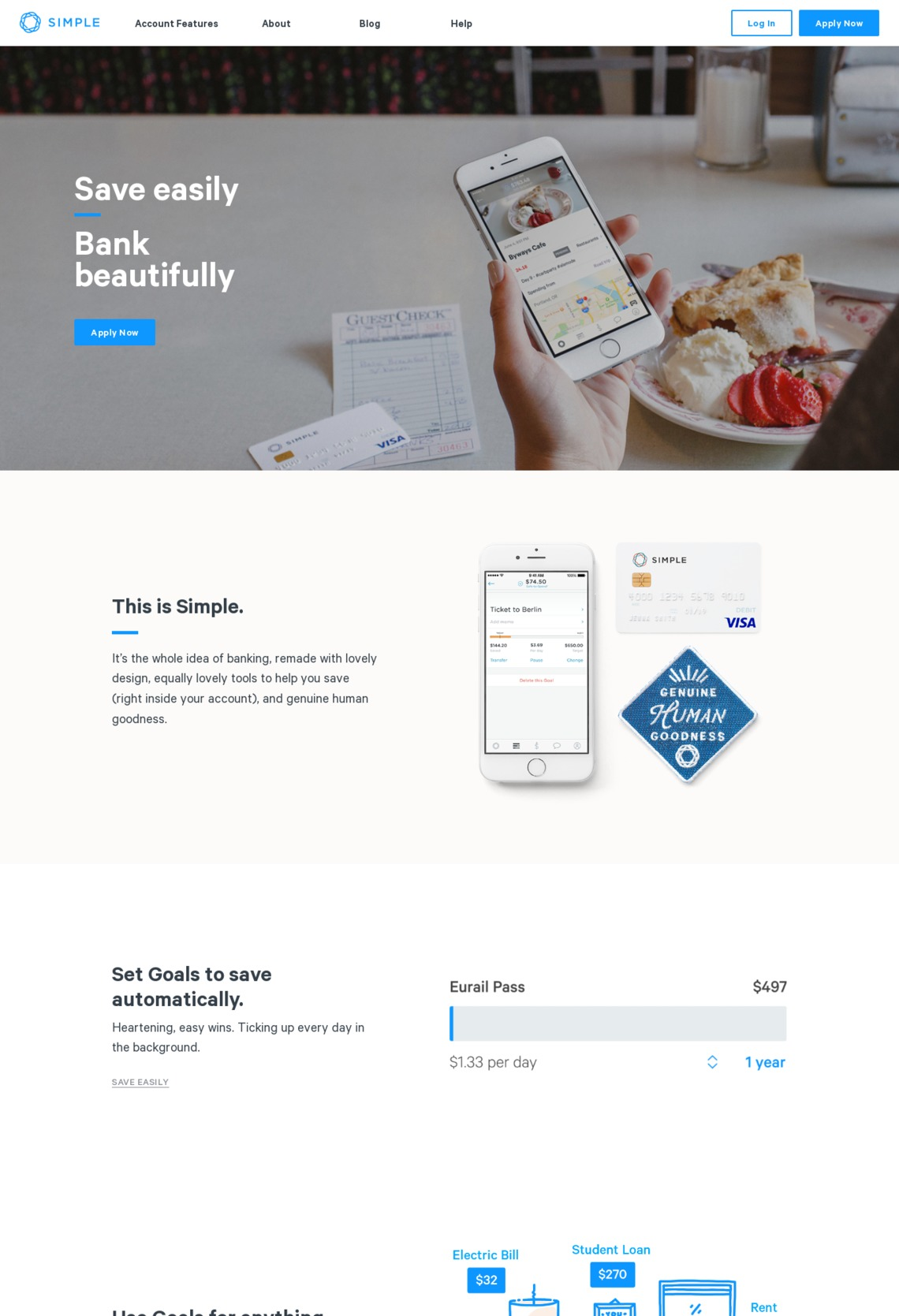 Simple | Online Banking With Built-In Budgeting & Saving Tools