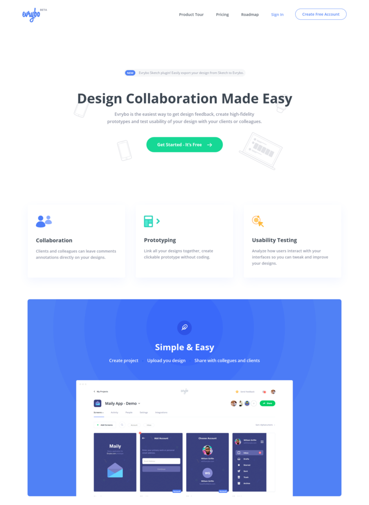 Evrybo - Free Collaboration and Prototyping tool for Designers