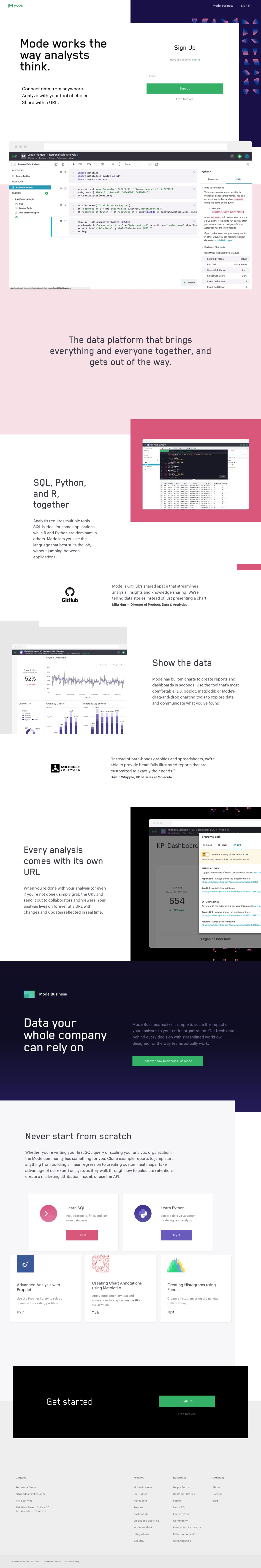 Mode - The Collaborative Analytics Platform for Data Analysts