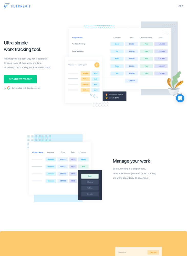 flowmagic | Simple work and time tracking for freelancers