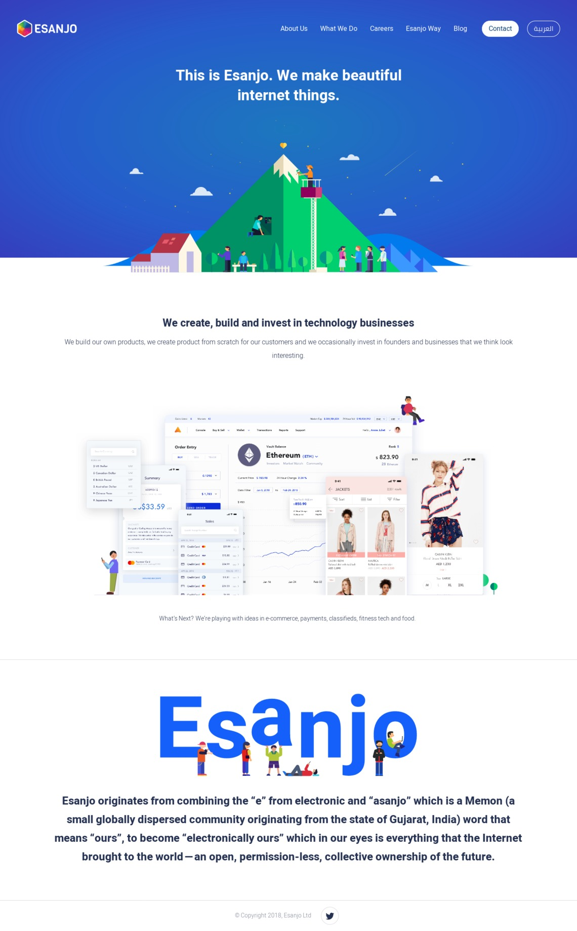 Esanjo: We create, build and invest in beautiful technology businesses