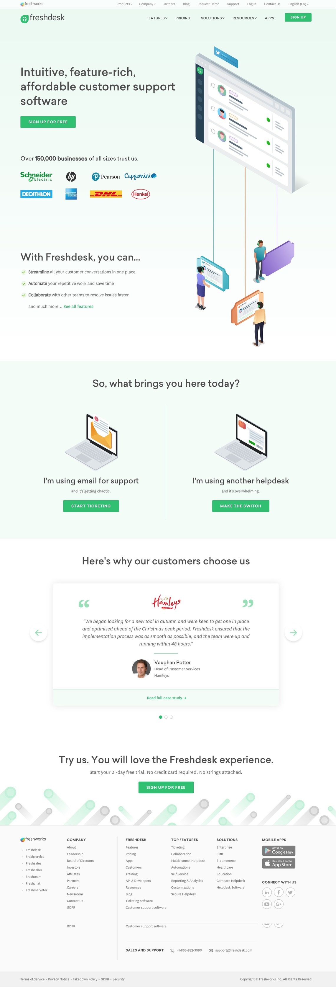 Customer Support Software & Ticketing System | Freshdesk