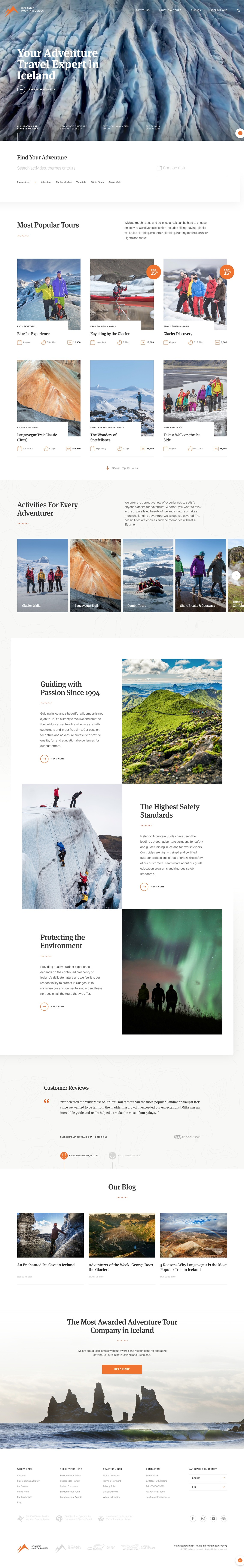Icelandic Mountain Guides - Your Adventure Expert in Iceland