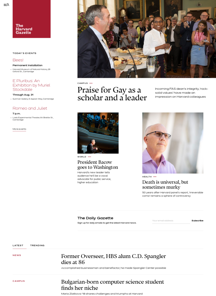 Harvard Gazette – Official news from Harvard University covering innovation in teaching, learning, and research