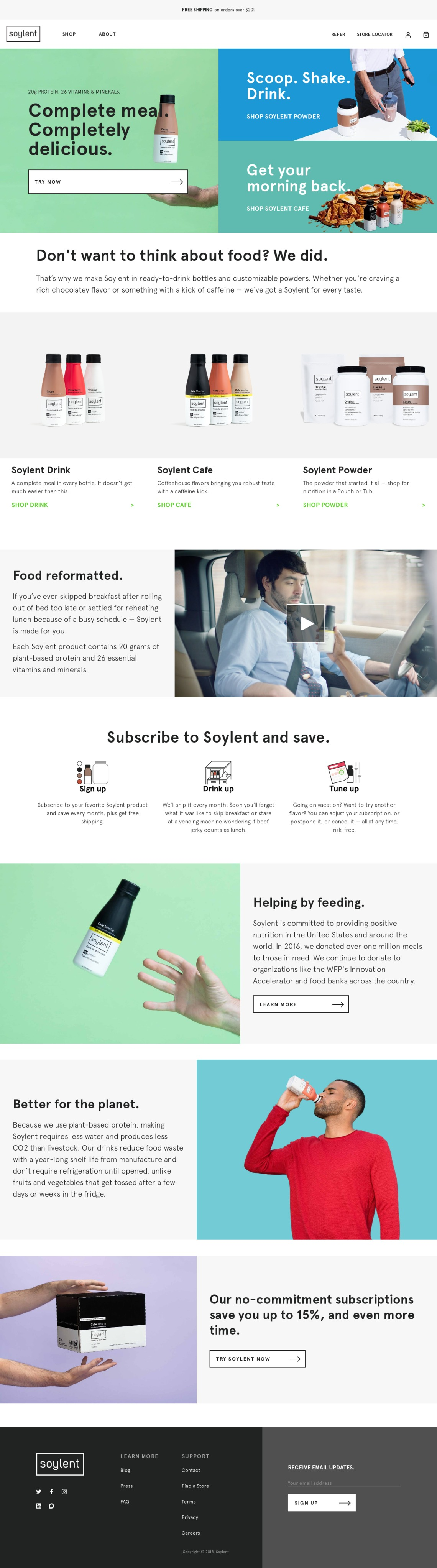 Soylent.com - Let us take a few things off your plate.