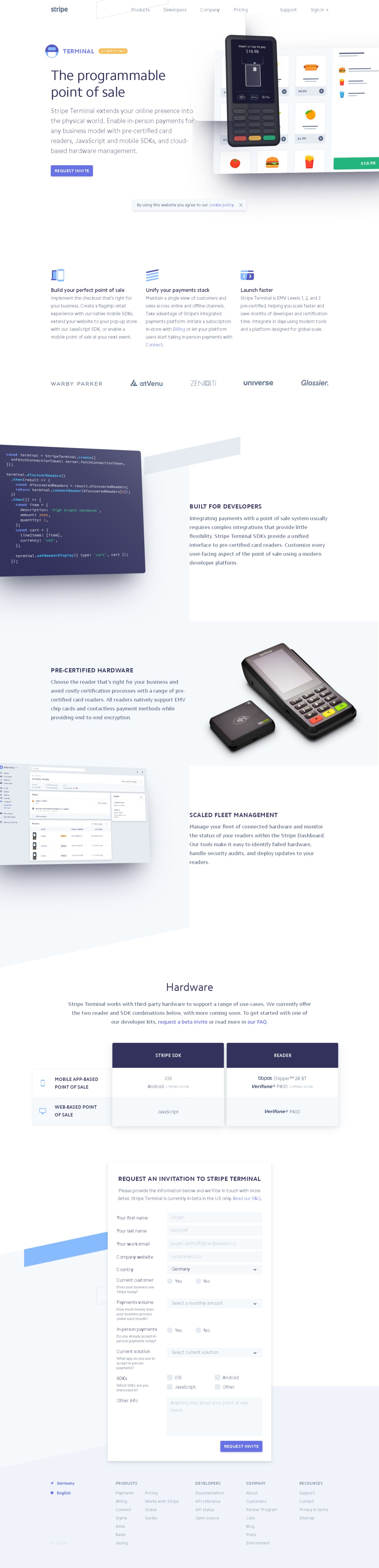 Stripe Terminal: The programmable point of sale