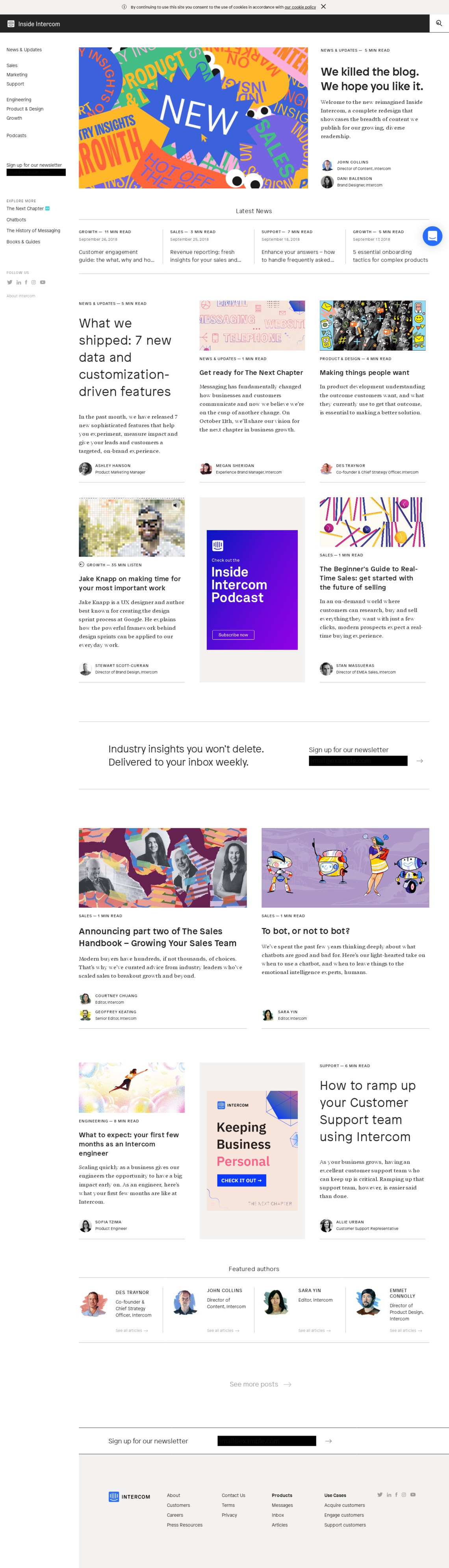 Inside Intercom - Articles on Sales, Marketing, Support and more