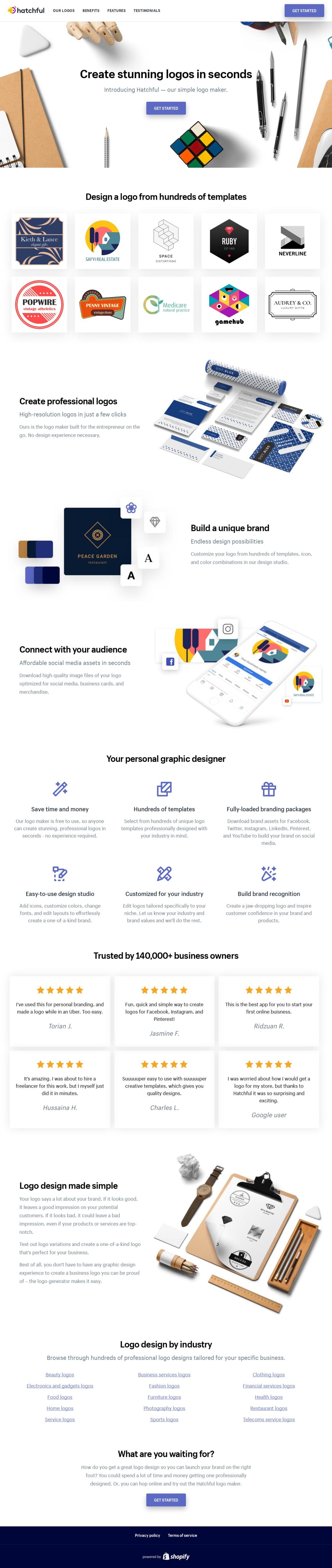 Logo Maker | Land-book - the finest hand-picked website