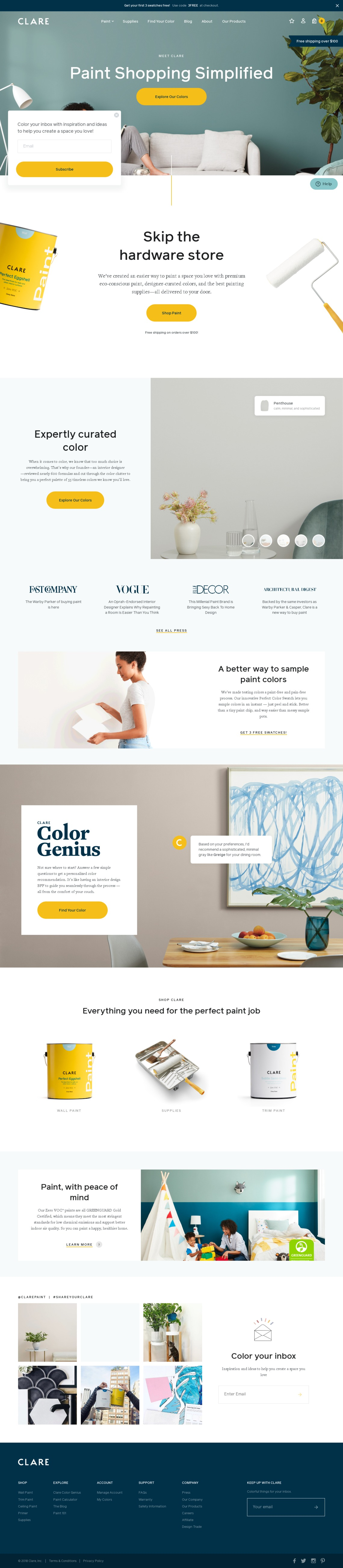 Simply Brilliant Color | Interior Paint & Supplies  | Clare