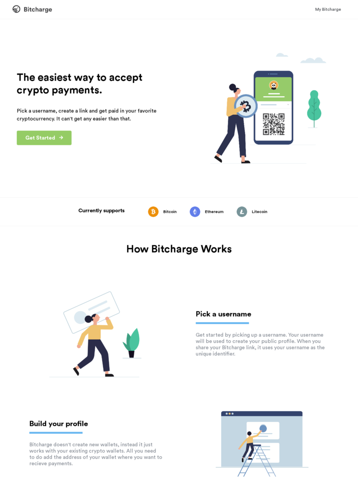 Bitcharge - The easiest way to accept crypto payments