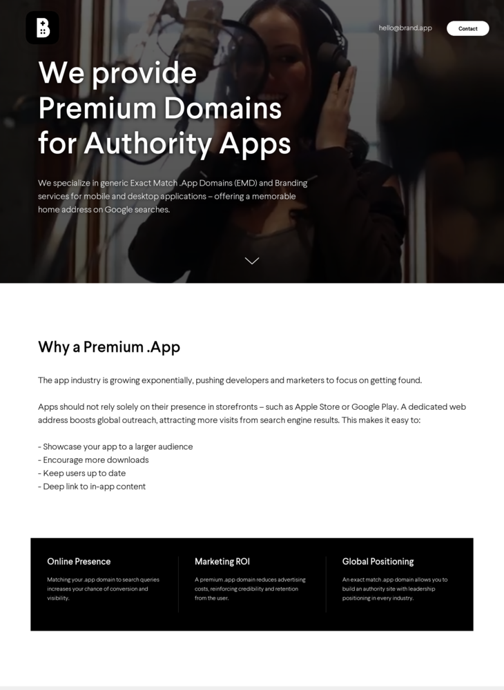 Brand.app | We provide Premium Domains for Authority Apps