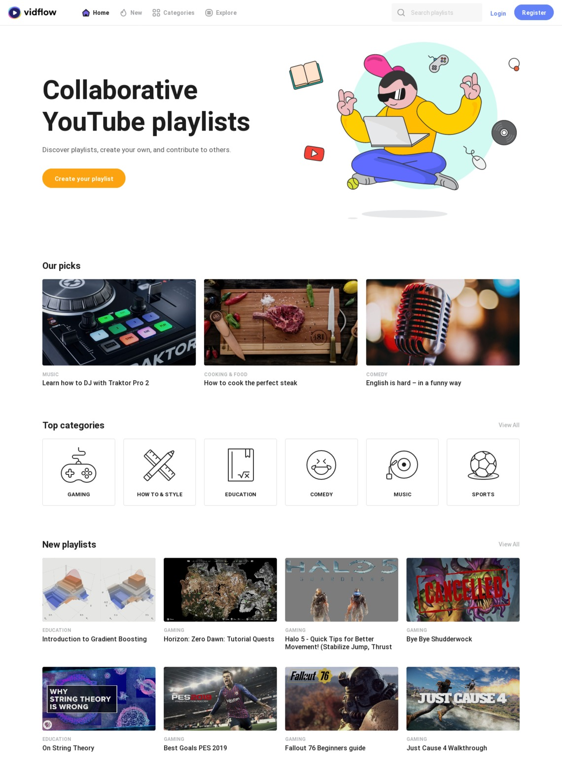 VidFlow – Collaborative YouTube playlists