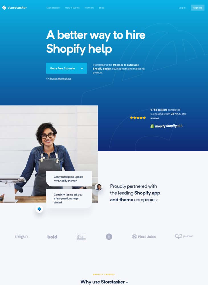 Storetasker | Hire vetted Shopify Experts