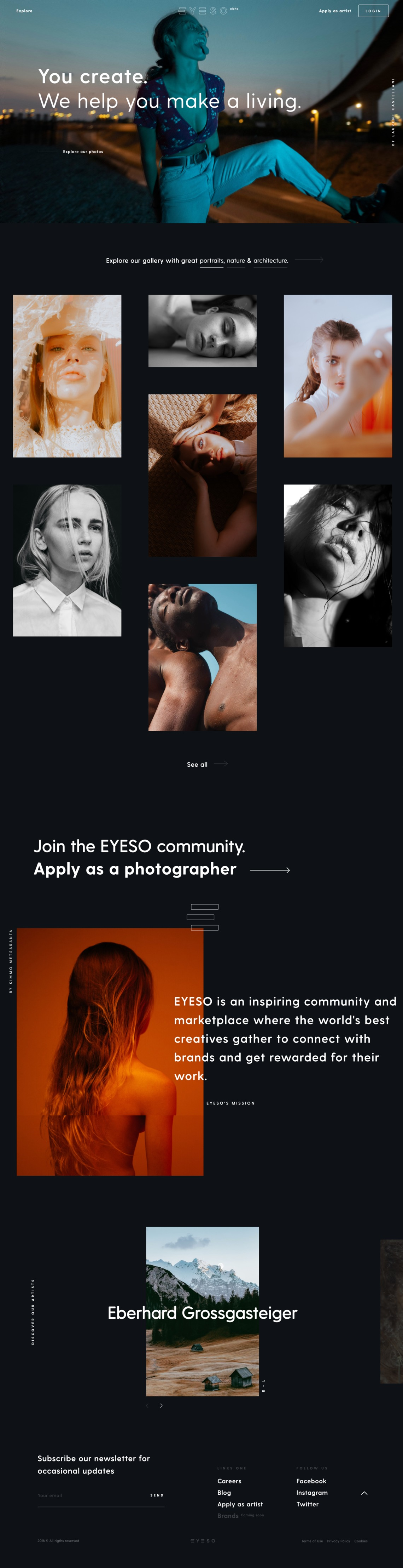 EYESO • Community and Marketplace