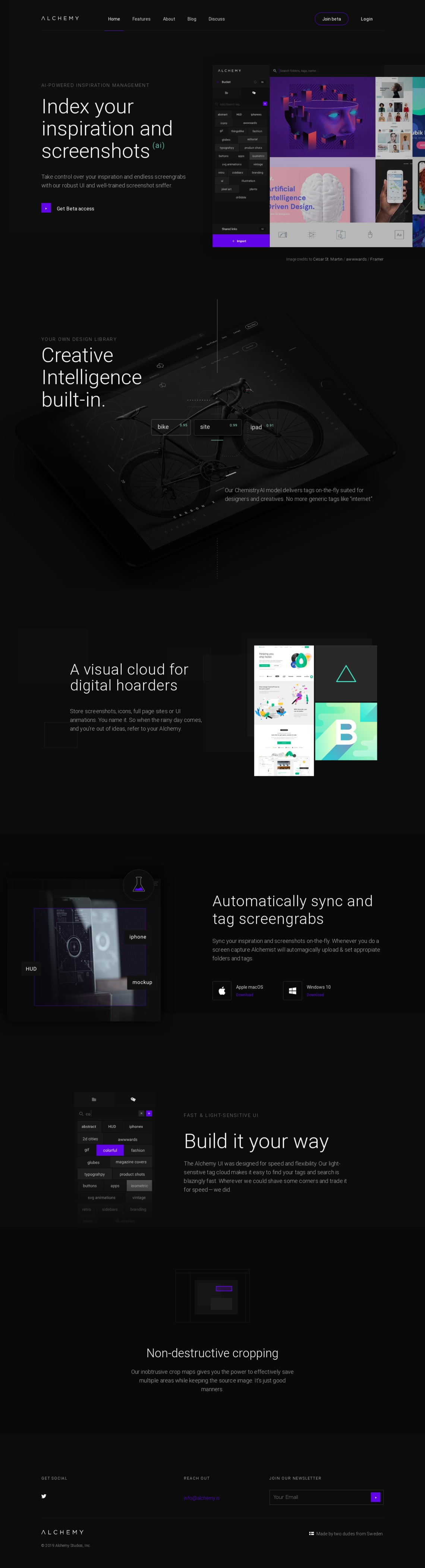 AI-driven inspiration and screenshot platform - Alchemy.is