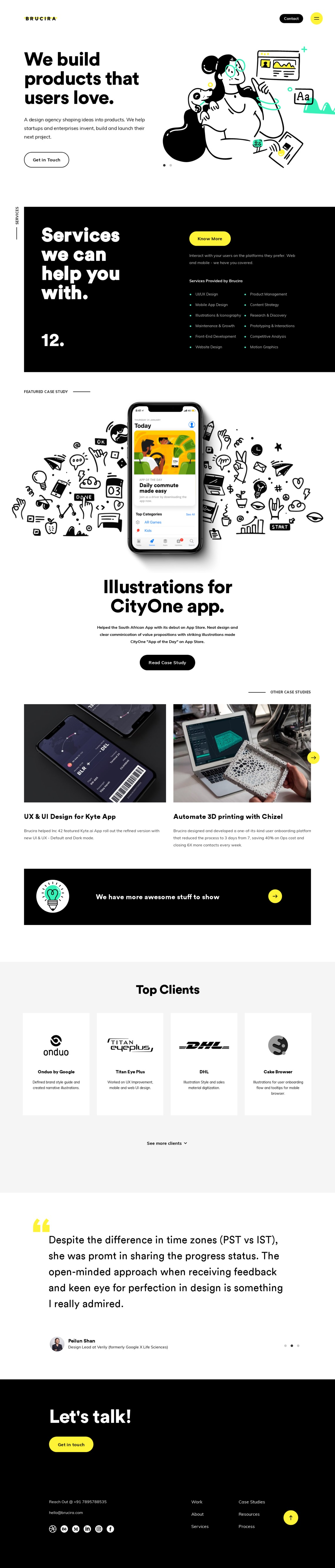 Brucira | Strategy, Branding and UX UI Product Design Agency