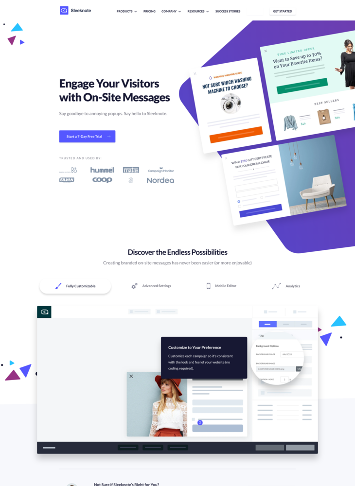 Sleeknote | Engage Your Visitors with On-Site Messages