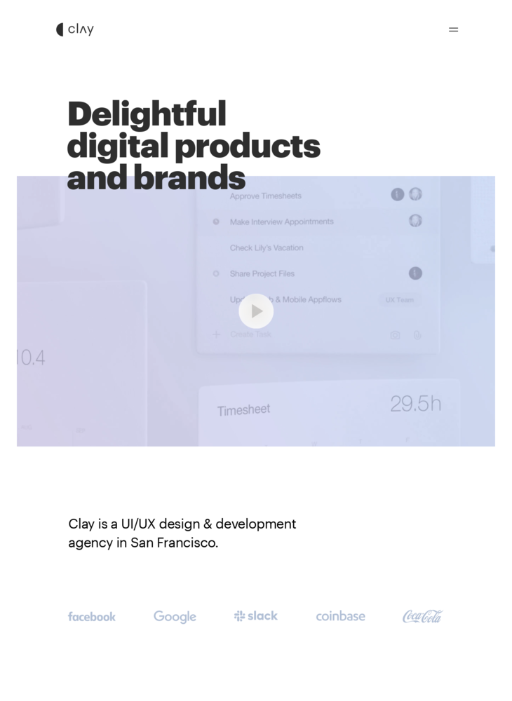 Clay | UI & UX Design Agency | User Experience Firm in San Francisco