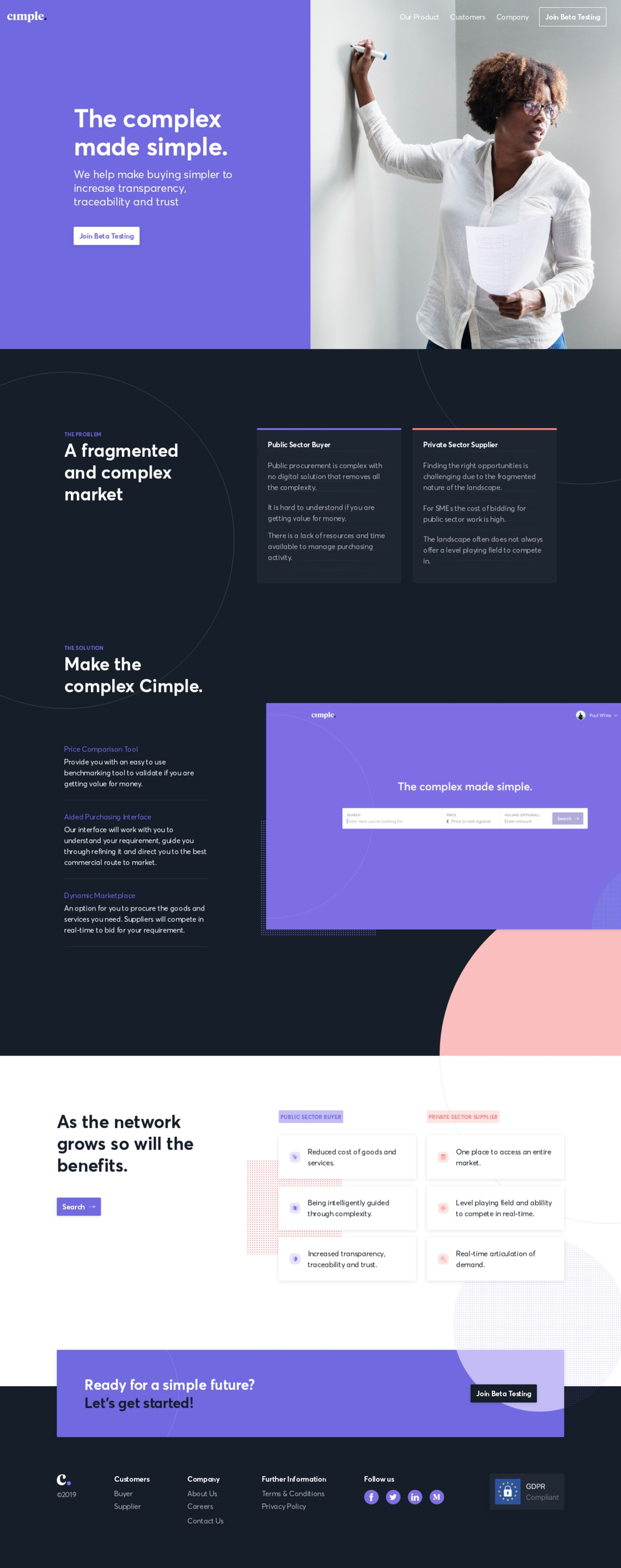 Cimple   Land-book - the finest hand-picked website inspirations
