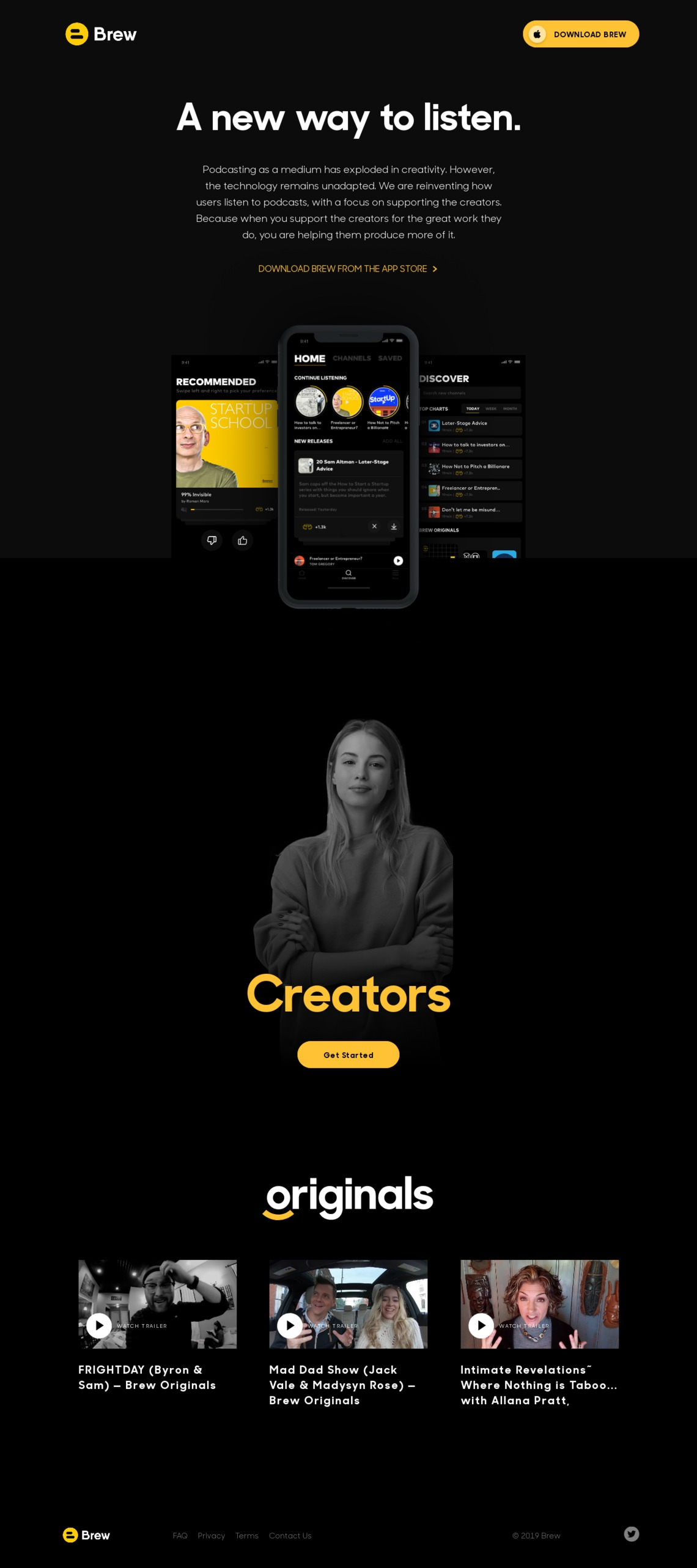 Brew Podcast App — Support the creators you listen to