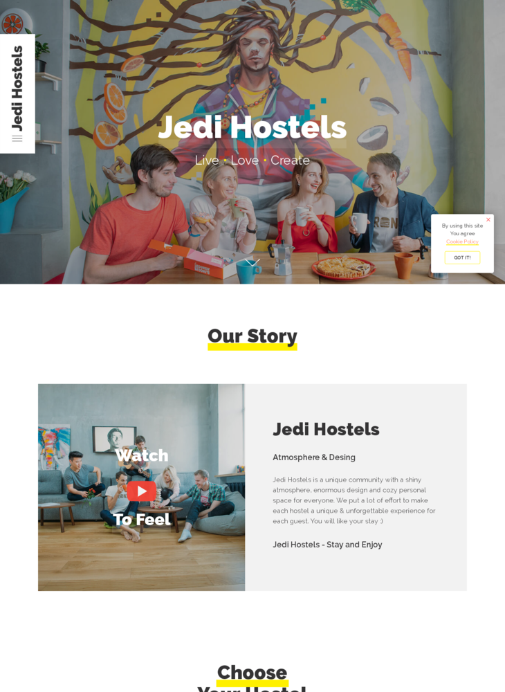 Jedi Hostels - Official WebSite