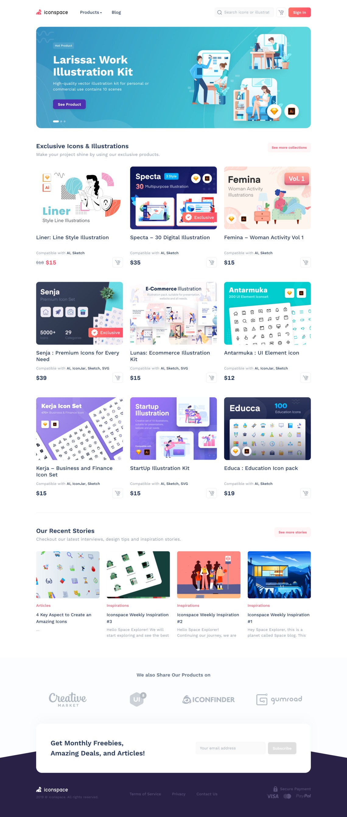 Iconspace : Creative Resources for Designers