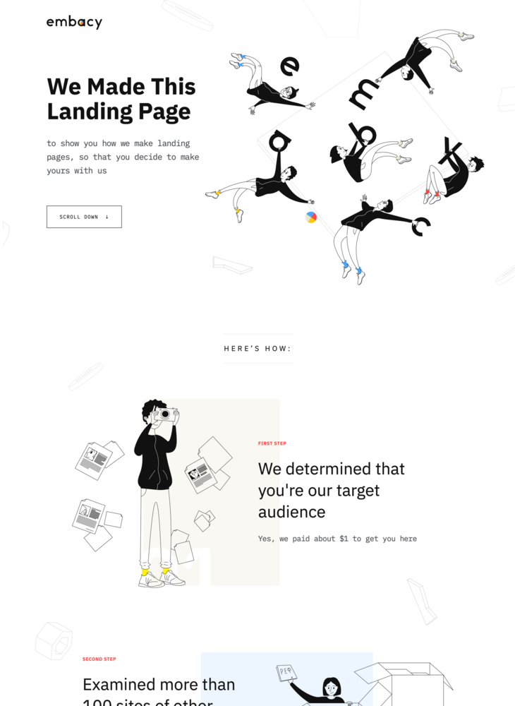 Let's make your landing page together 😉