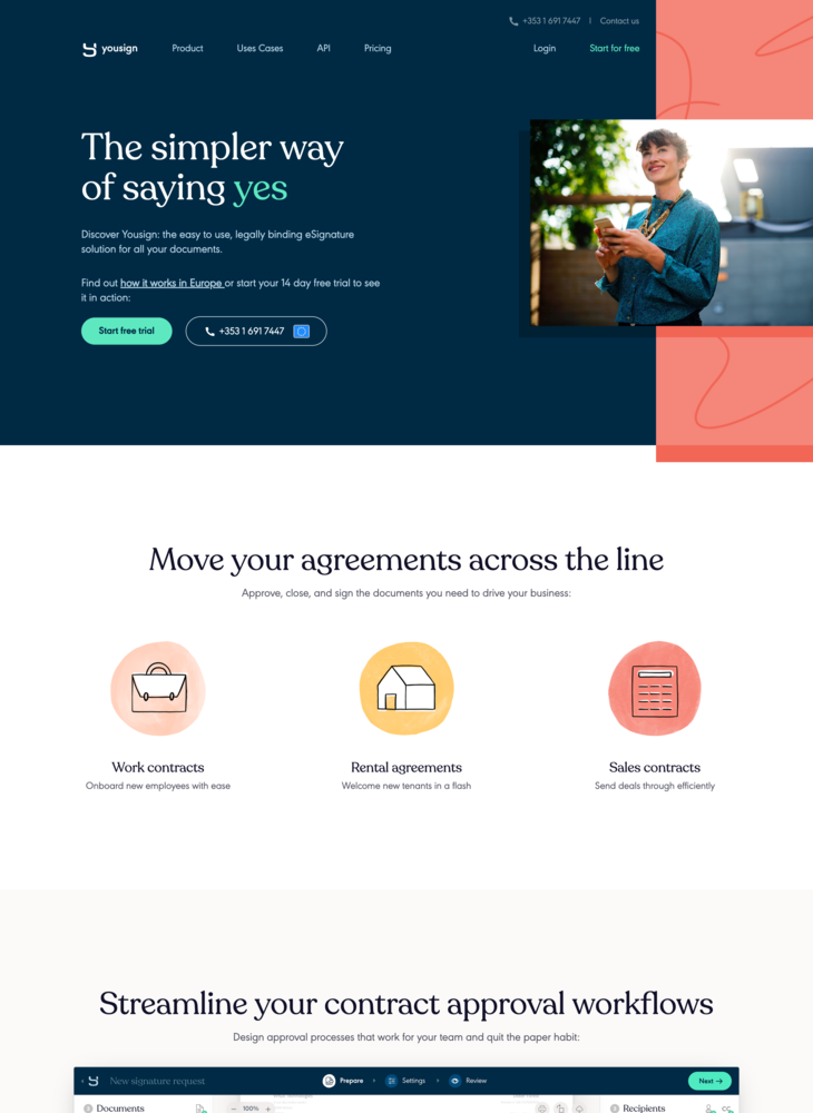 "eSignature software: The simpler way of saying ""yes"" • Yousign"