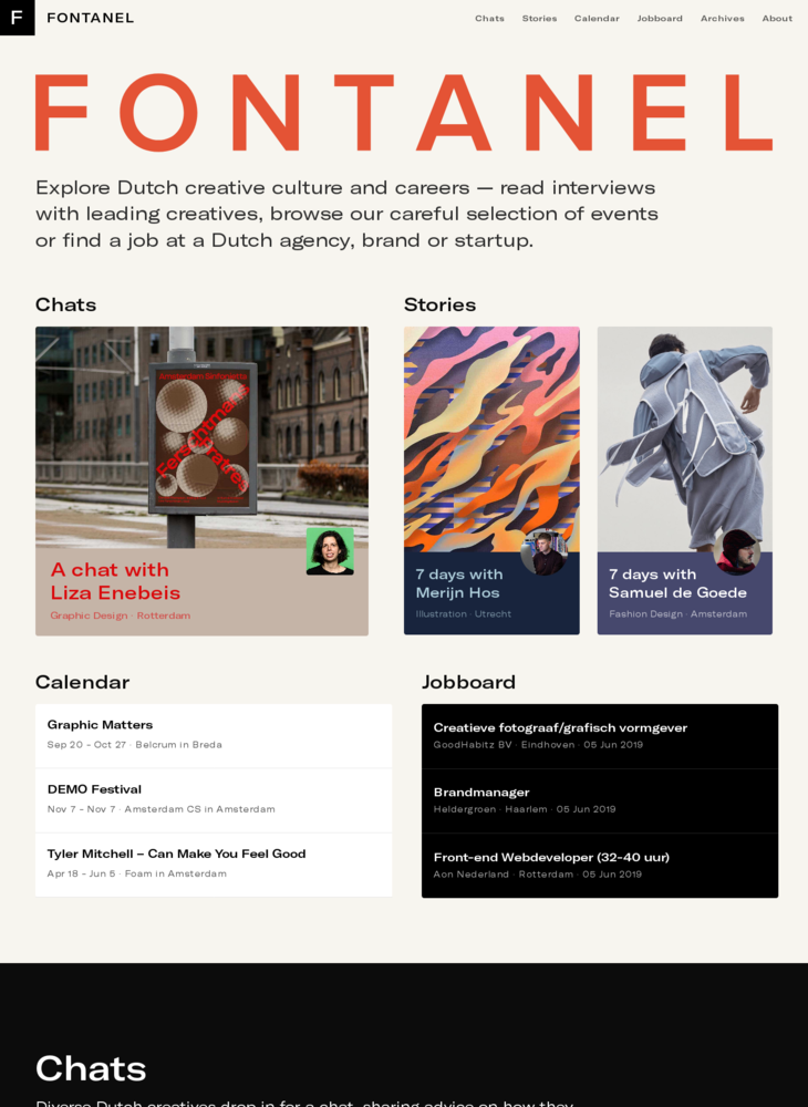FONTANEL — Explore Dutch creative culture and careers