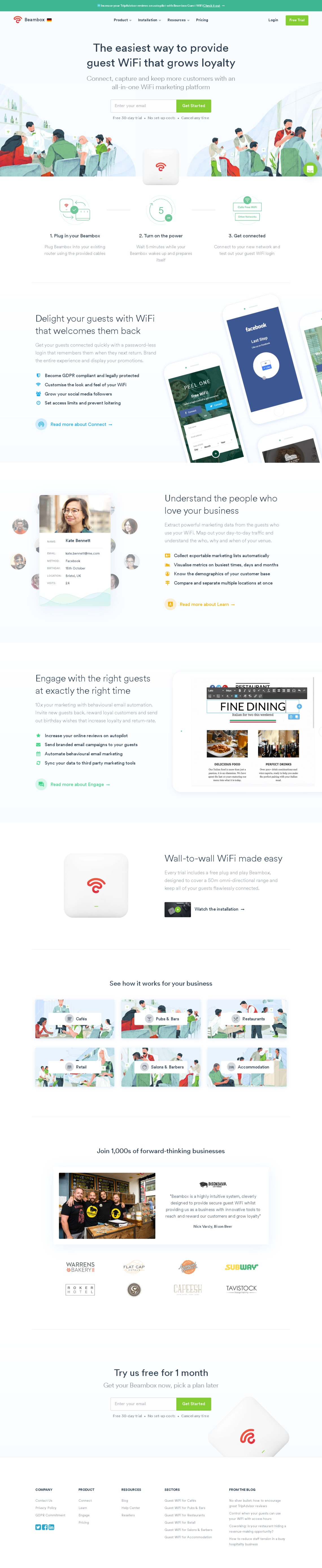 Guest WiFi Marketing for Small Business | Beambox