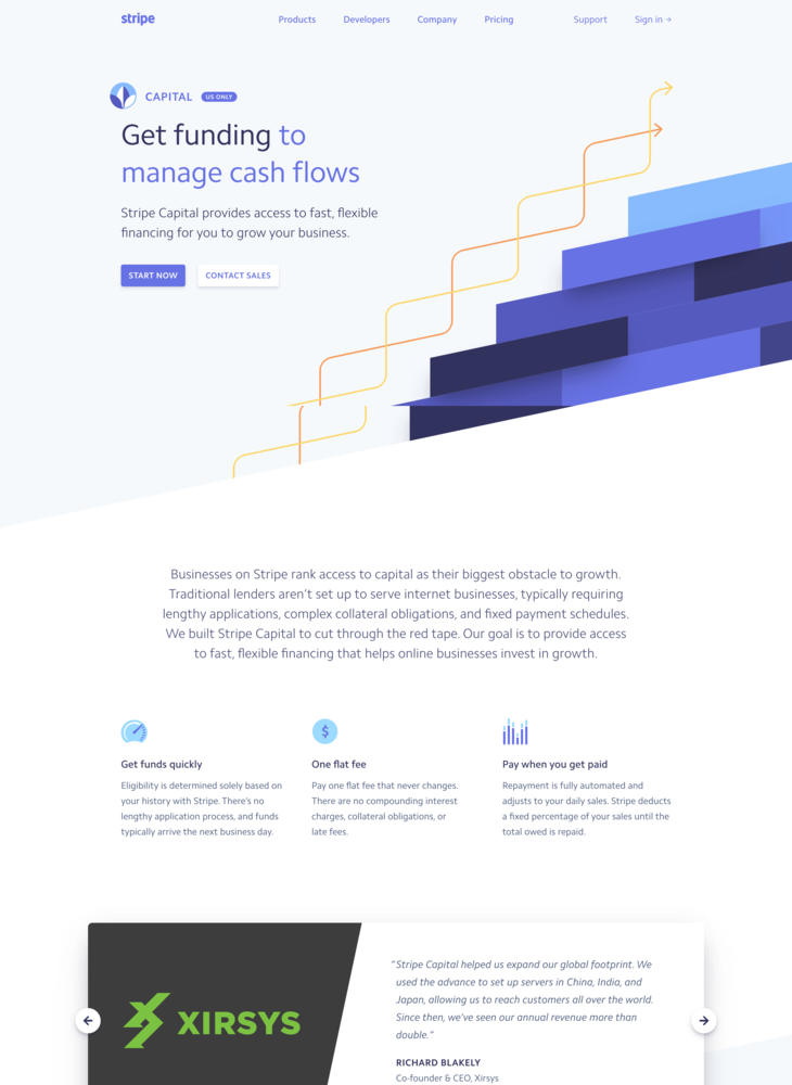 Stripe Capital: Flexible financing in as little as one day