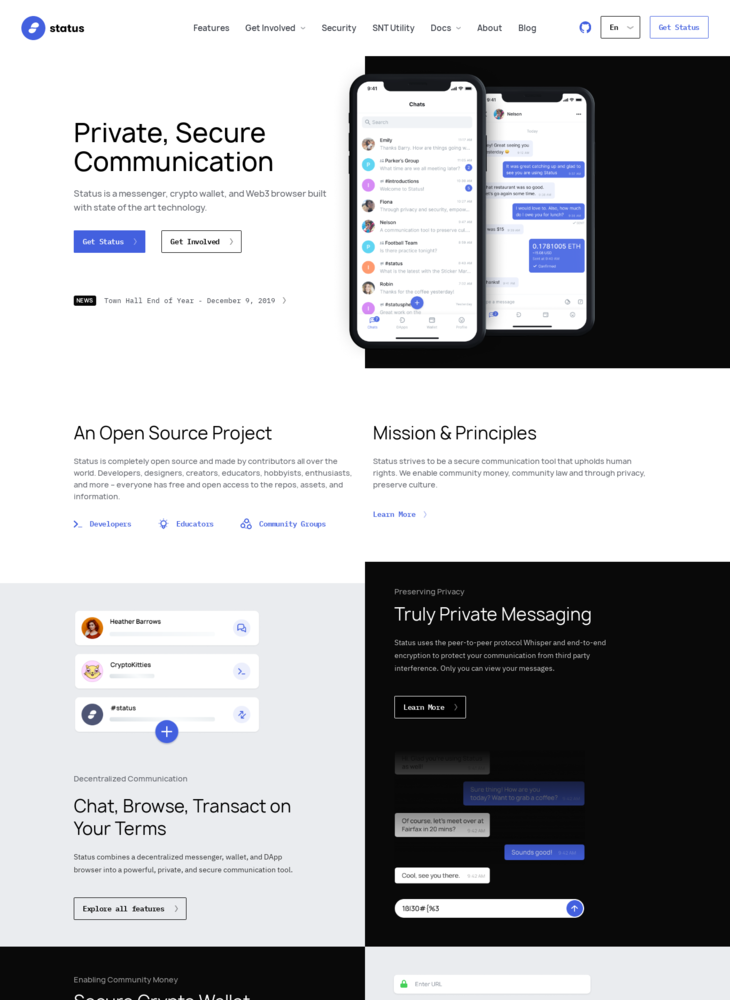 Status - Private, Secure Communication