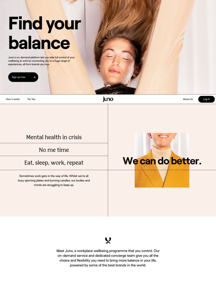 Juno: the life company® ■ wellbeing choices for teams