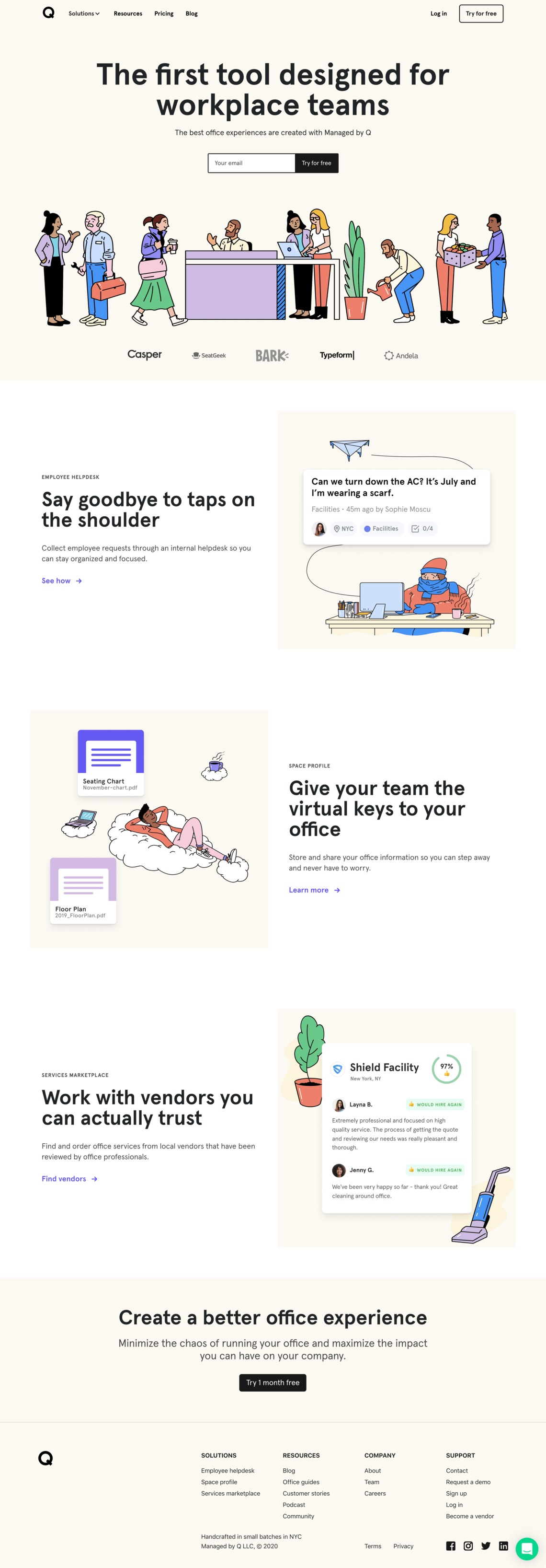 Managed by Q | The first tool designed for workplace teams