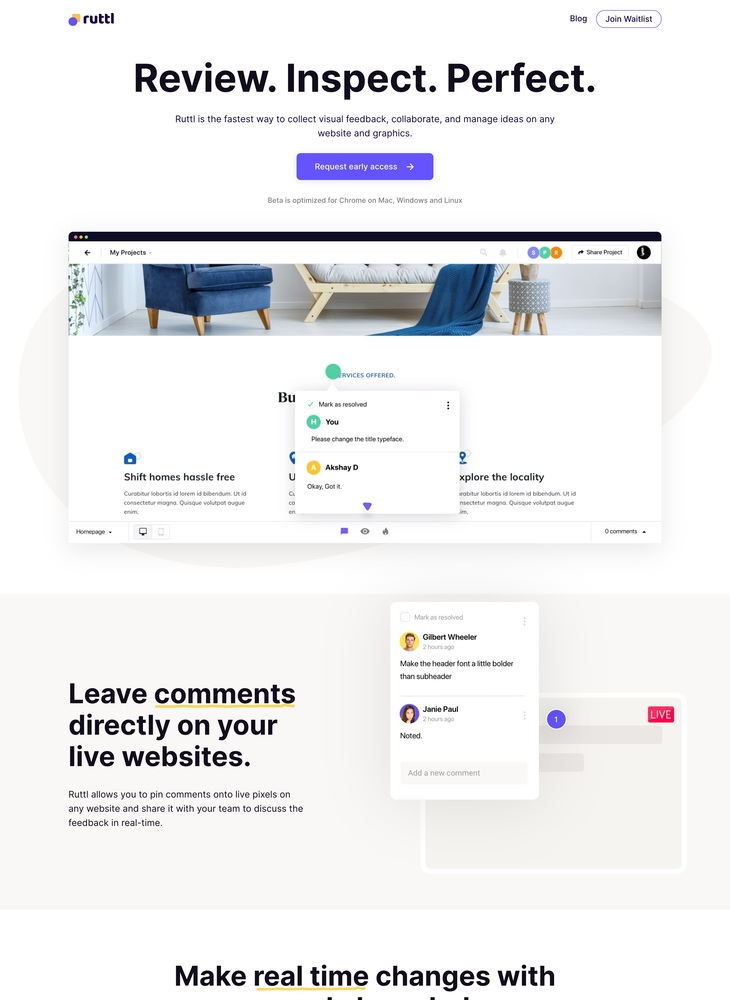 Ruttl | Visual feedback, collaboration & idea management