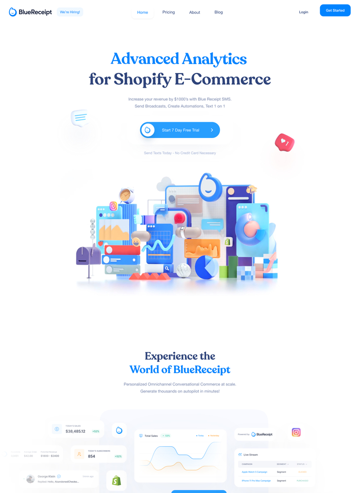 BlueReceipt - Text Message Marketing for Shopify
