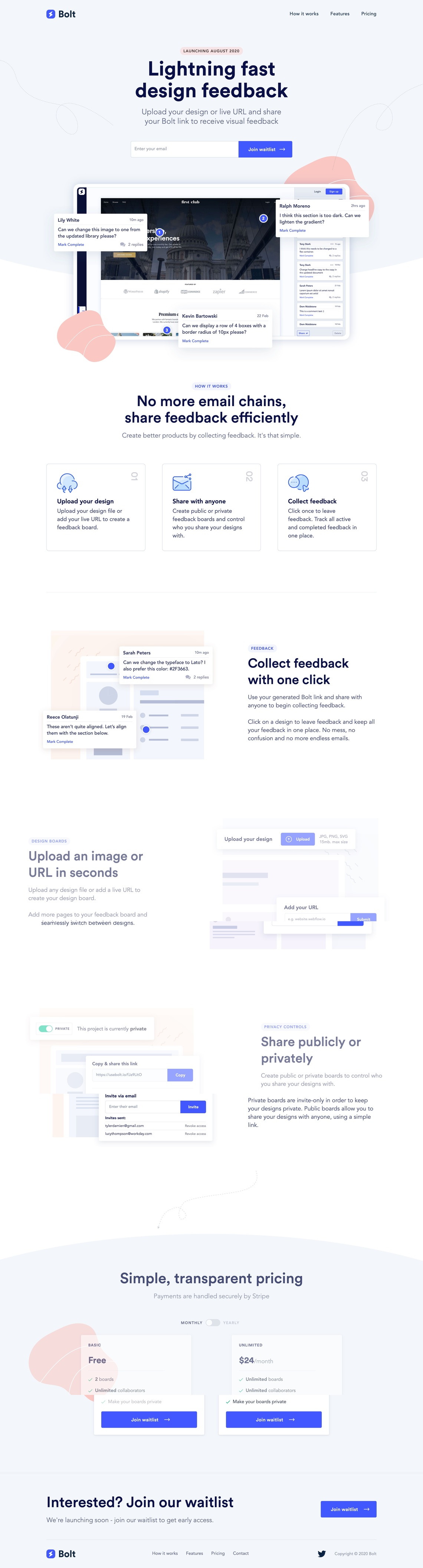 Bolt | The easiest way to collect design feedback