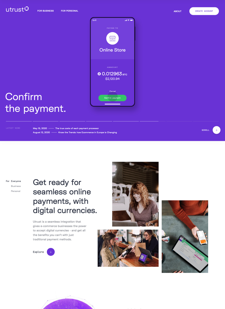 Utrust — Accept crypto payments, easily.