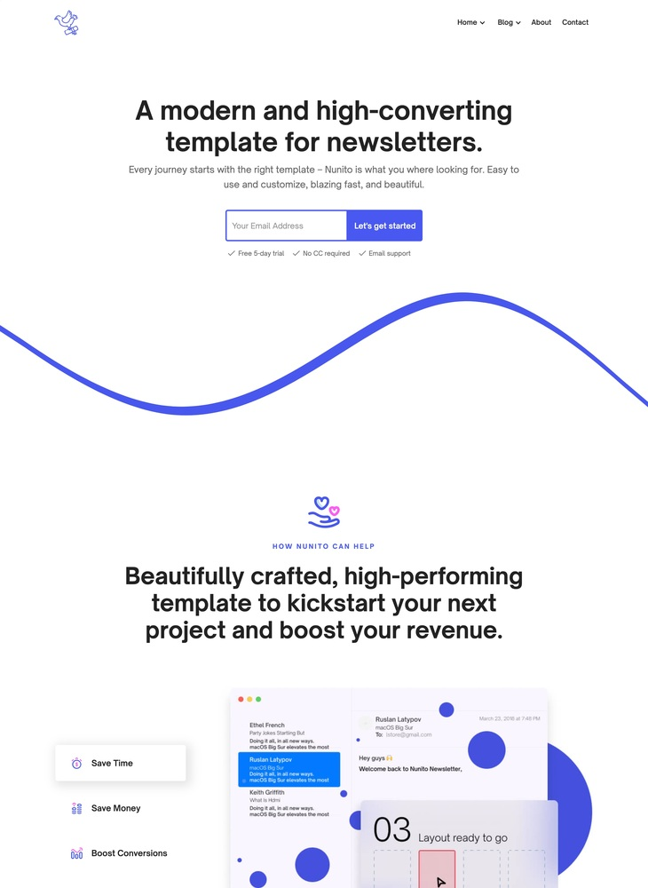 Nunito - Newsletter Webflow Template