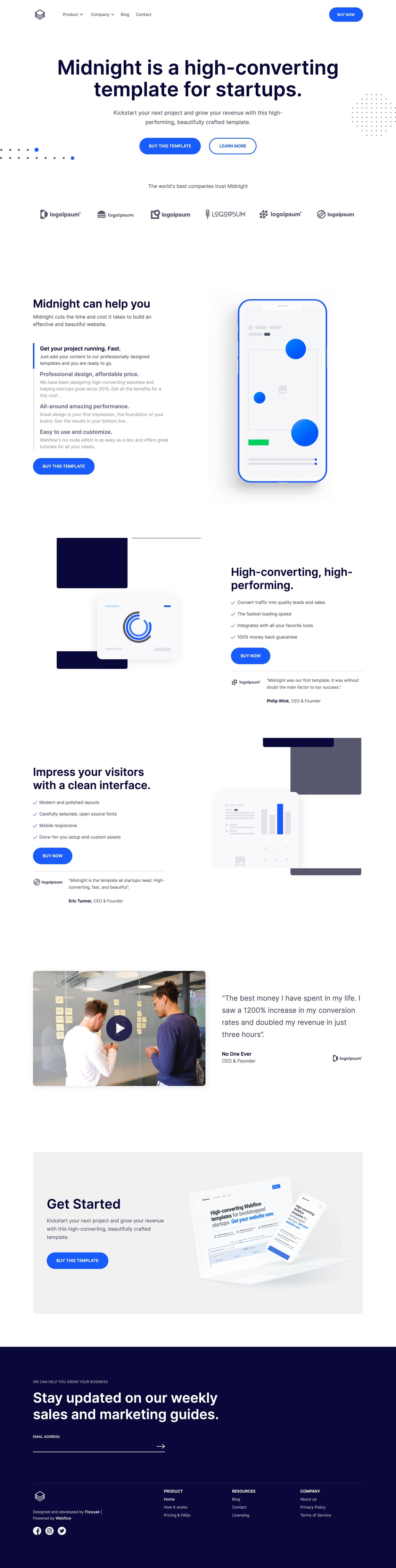 Midnight - Startup Webflow Template