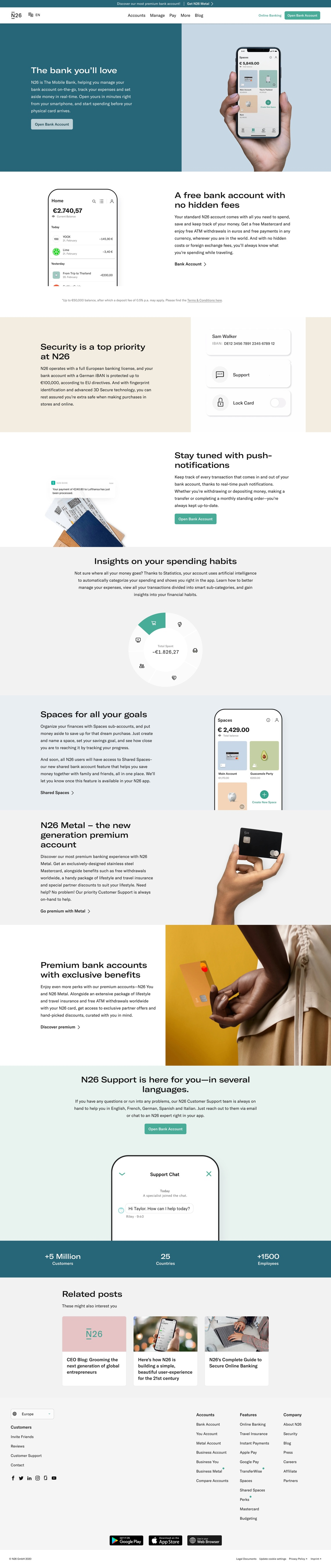 N26 The Mobile Bank — N26 Europe