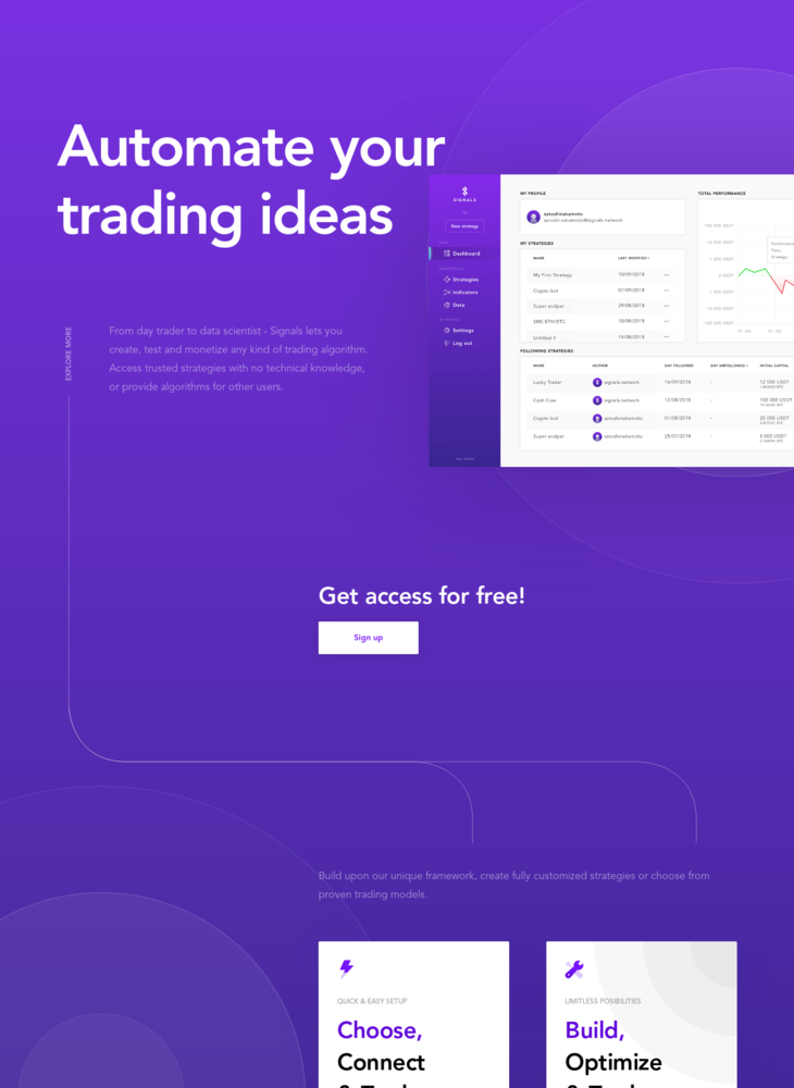 Signals - Automate your trading ideas