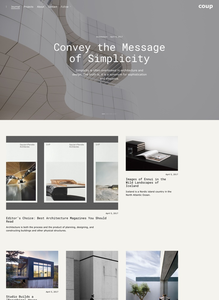 Coup - newspaper inspired WordPress theme - ThemesKingdom