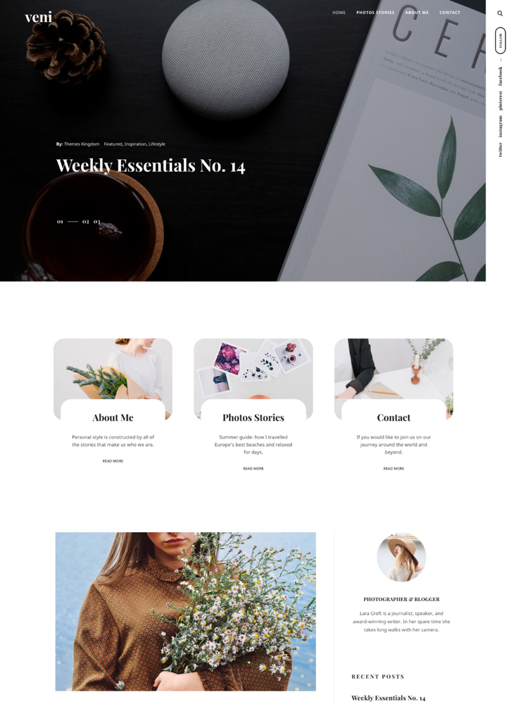 Veni - WordPress + WooCommerce blog theme - ThemesKingdom