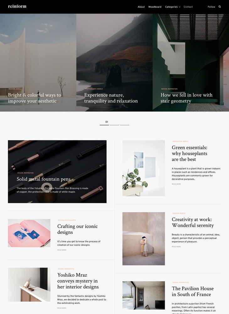 Reinform - WordPress theme for digital agencies - ThemesKingdom
