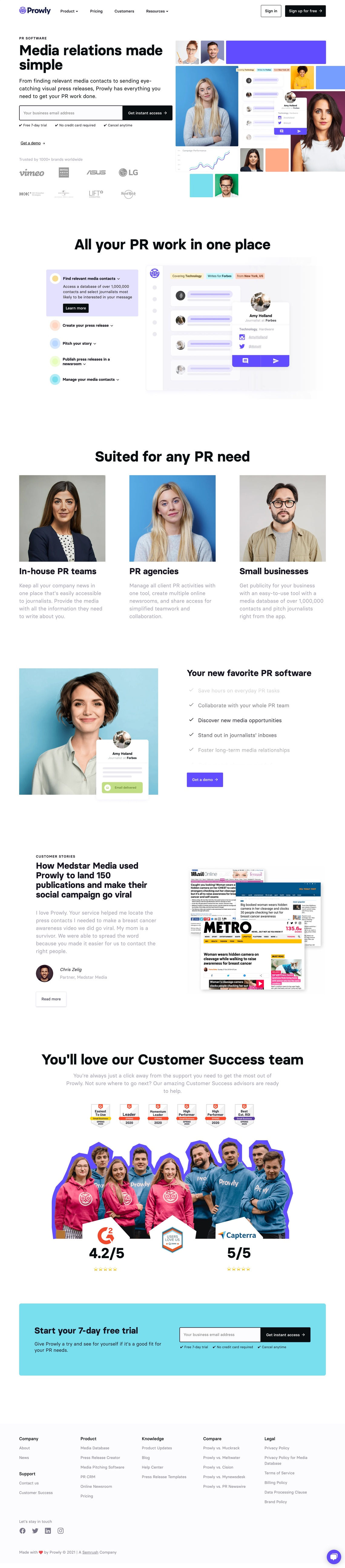 Prowly – PR & Media Relations Software