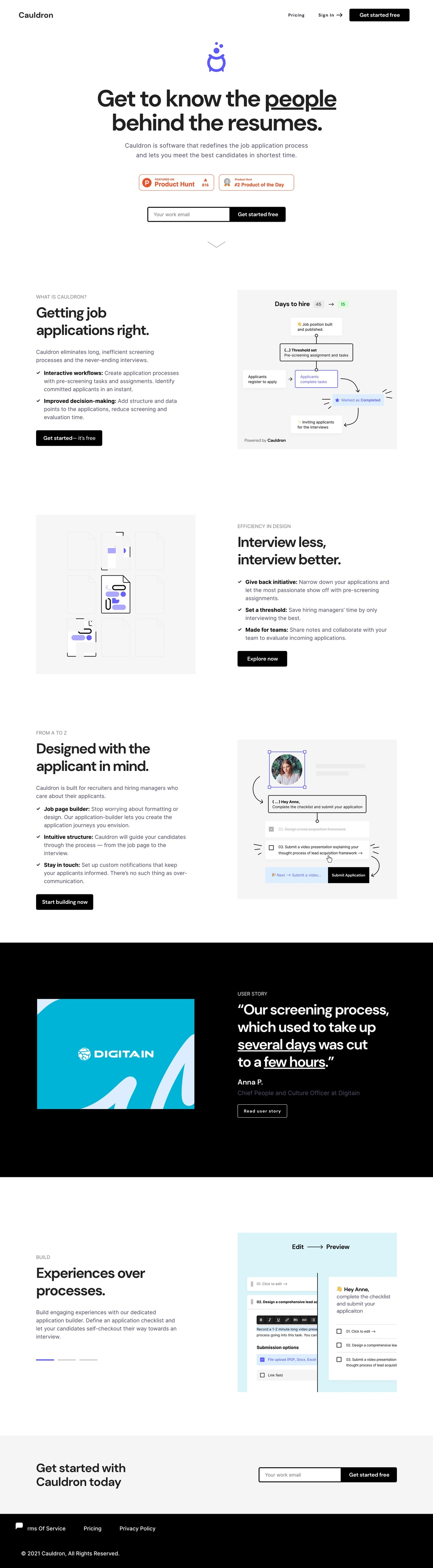 Cauldron | The Job Application Process — Redesigned