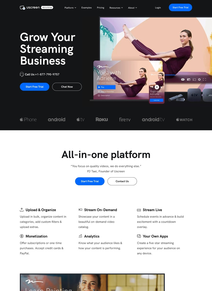 Uscreen - The #1 VOD Platform for Video Monetization