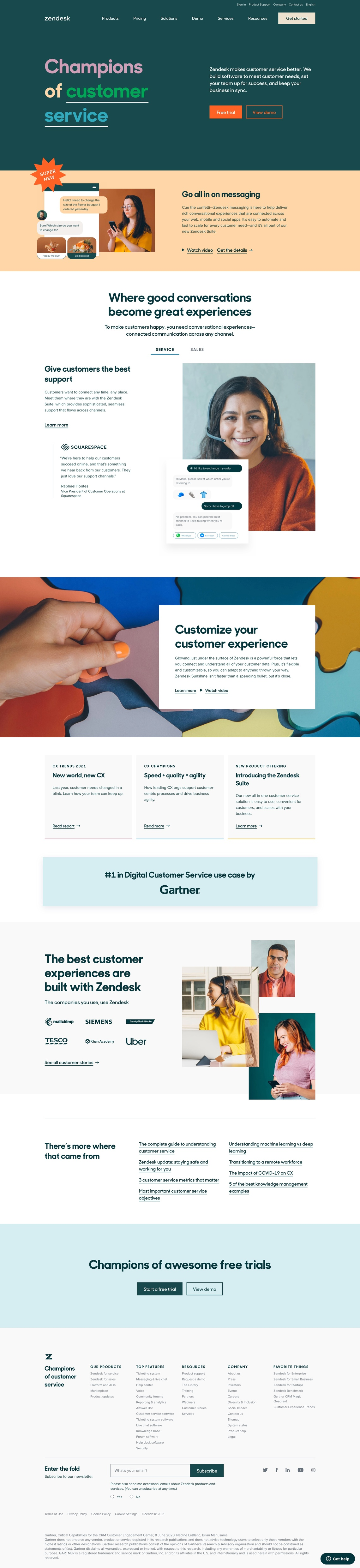 Customer Service Software & Sales CRM | Best in 2021 from Zendesk.