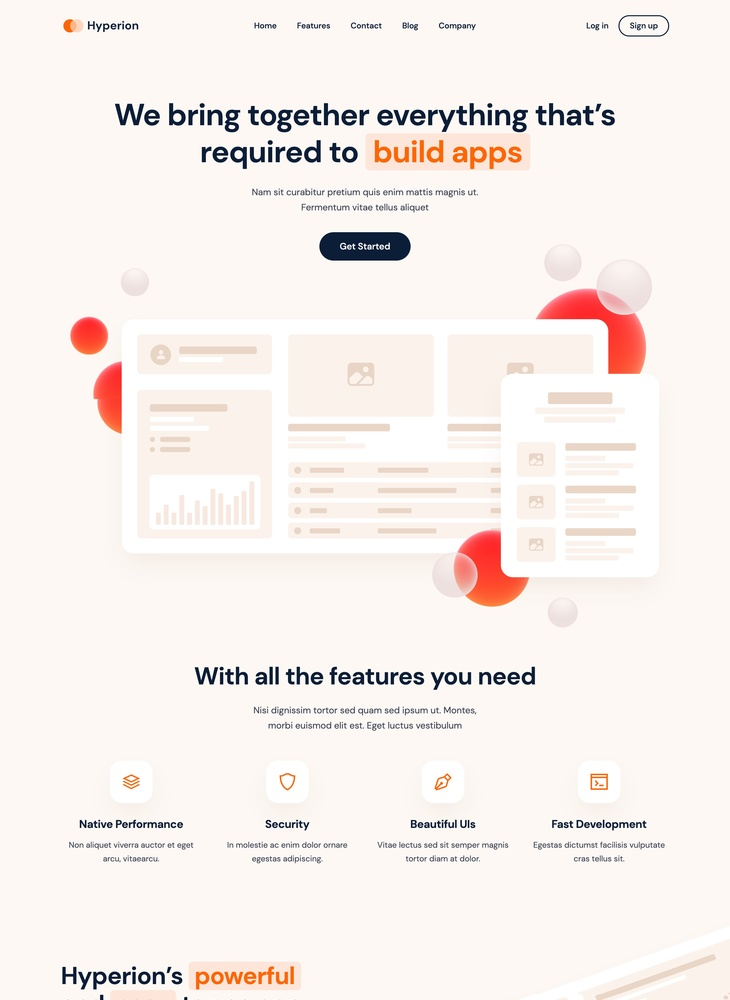 Hyperion - Startup Webflow Template
